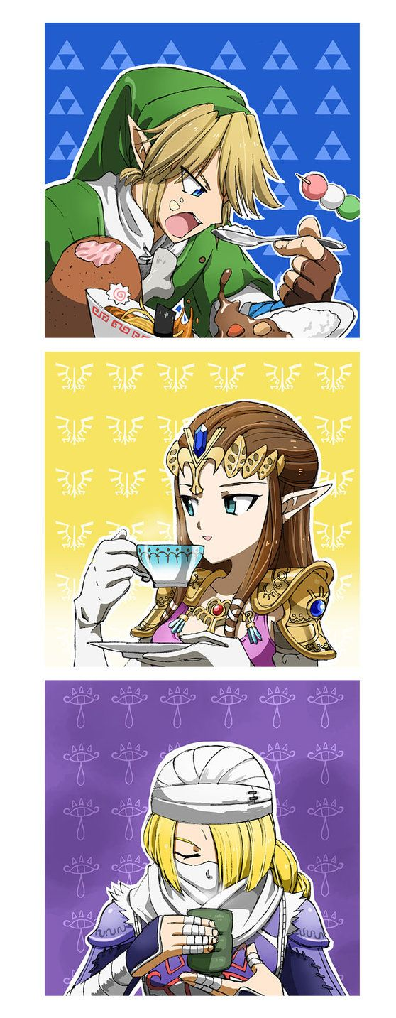 I could see Link having an eating contest against Pit from Icarus Uprising