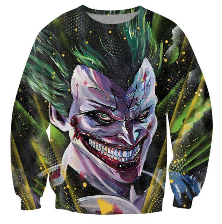 Women Men 3d Majin Joker Sweatshirt Fashion Clothing Outfits Harajuku Tops Autumn Fall Style Jumper Hoodies Sweats Plus Size #Affiliate