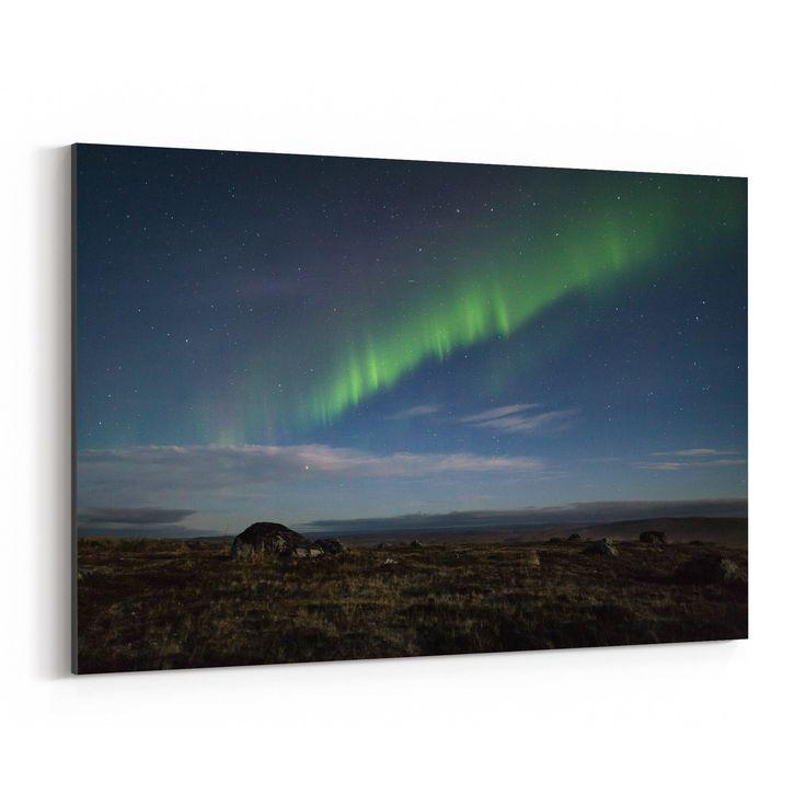 Noir Gallery Northern Lights Lapland Finland Canvas Wall Art Print (40 x 60)