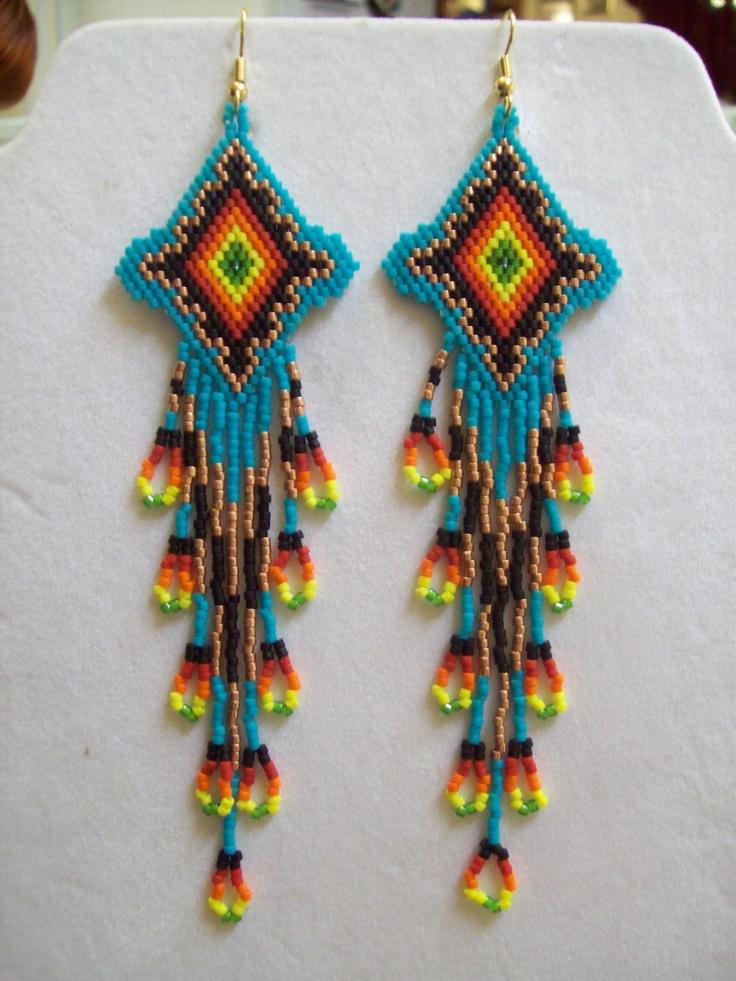 Beautiful Native American Beaded Turquoise by BeadedCreationsetc, $40.00