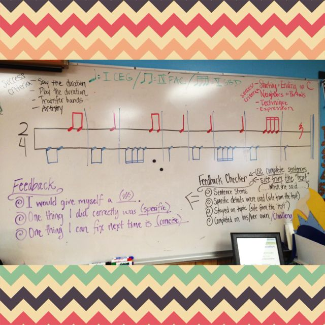 the general music classroom: Feedback and guiding my students to be conversatio...
