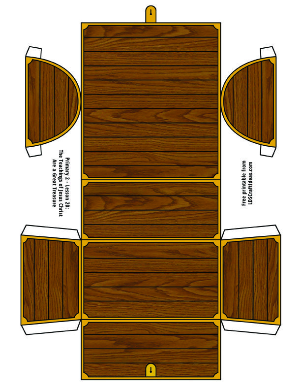 Printable Treasure Chest Template The Downloadable Version At Bottom Is High resolution