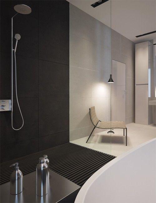 Salle de bain luxe et minimaliste   luxury minimalist bathroom