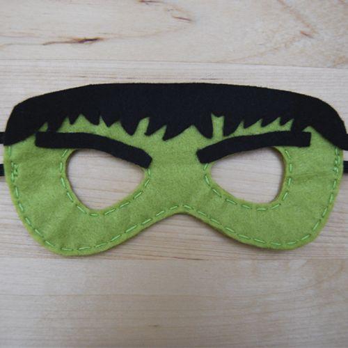 Globers Máscaras de superhéroes en fieltro para niños. Hulk. Cumpleaños y fiestas. Cool parties. Superhero felt masks. Kids.