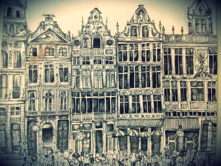 City Sketch- Grand-Place, Brussels, Belgium