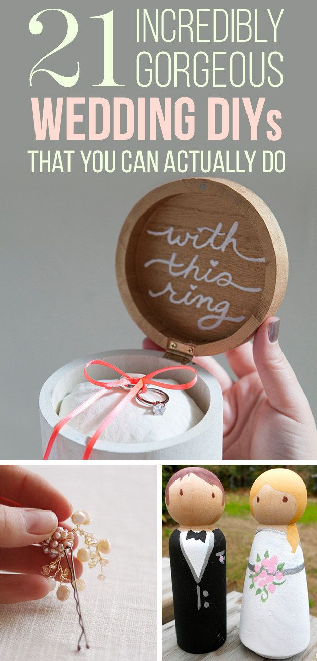 21 Incredibly Gorgeous Wedding DIYs That You Can Actually Do