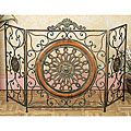 Antique Rustic Metal/ Mesh Fireplace Screen | Overstock.com Shopping - The Best Deals on Decorative Screens