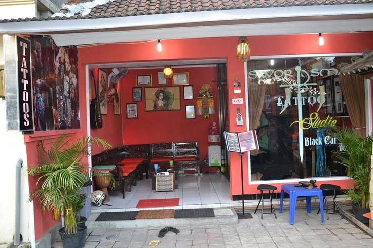 Black Cat Design@Swordsman Tattoo Studio Legian St Bedugul Lane Kuta Bali Indonesia