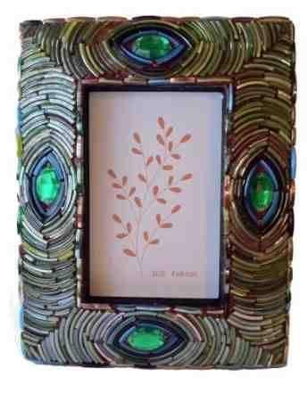 """Peacock & Gemstones Design Photo Frame, 4"""" x 6""""  $29.99 www.AllThingsPeacock.com"""