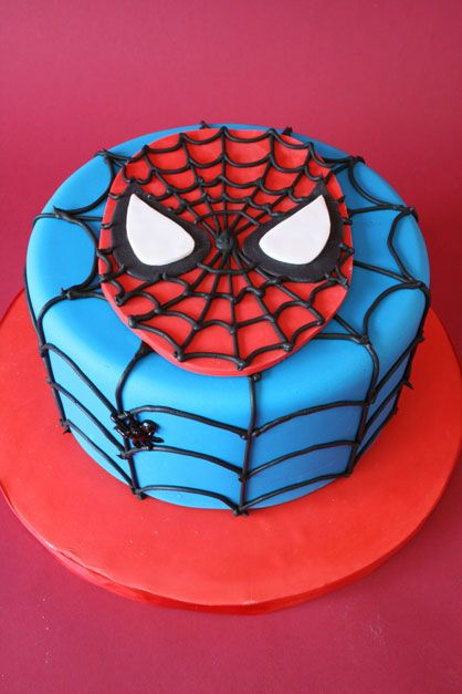 superhero birthday cake | Mod Cakery - Boy Birthday Cakes - Spider Super Hero