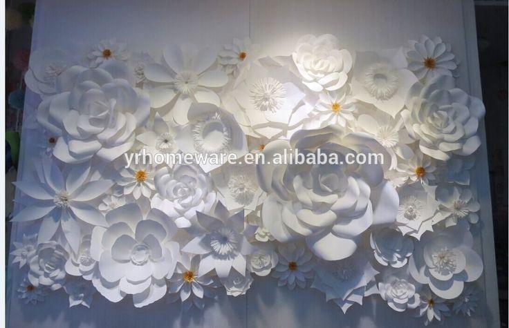Бумажный цветок настенные украшения, свадебные украшения, бумажные фоне цветок