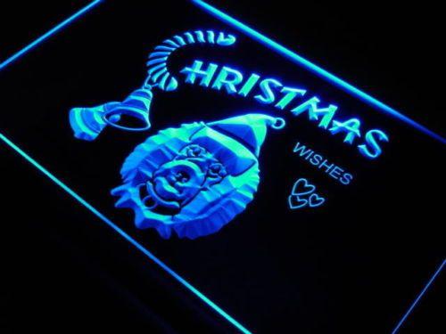 Poodle dog Christmas Wish Decor Neon Light Sign
