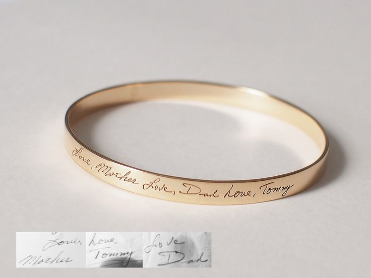 20% OFF - Personalized Handwriting Bangle / Memorial Signature Bangle /  Signature bracelet / Bridesmaid Gift - HB05 by IMEsilver on Etsy https://www.etsy.com/listing/249421635/20-off-personalized-handwriting-bangle