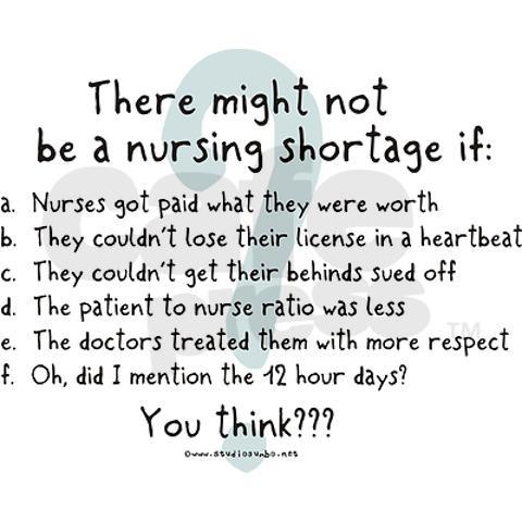 Nursing shortage thesis statement