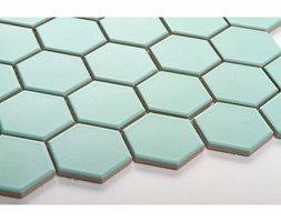 Hexagon duży, miętowy, matowy