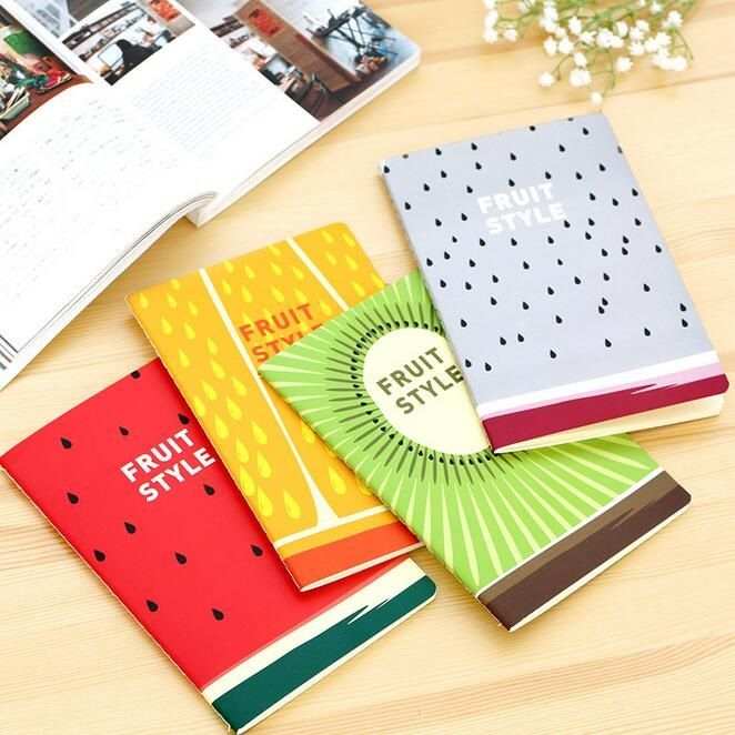 1pcs/lot   210*142mm New ARRIVAL Fresh Fruit Series A5 size notebook kids' Diary agenda office school supplies