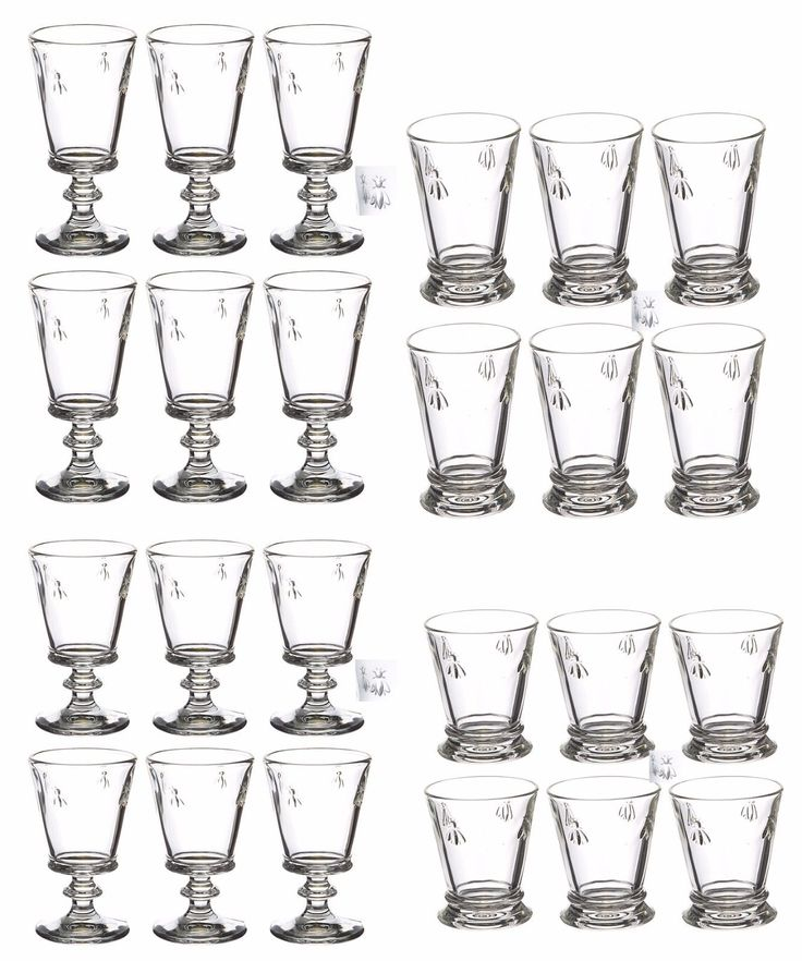 La Rochere Biene Abeile Vintage Weinglas Glas Gläser Weingläser  Wasserglas   | eBay