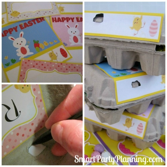 Egg Carton Easter Printables   – Pascoa