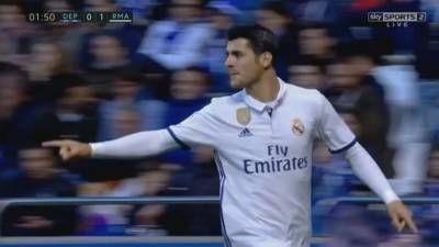 Alvaro Morata Goal – Deportivo La Coruna vs Real Madrid 2-6 – La Liga 26/04/2017 HD -  Click link to view & comment:  http://www.naijavideonet.com/video/alvaro-morata-goal-deportivo-la-coruna-vs-real-madrid-2-6-la-liga-26042017-hd/