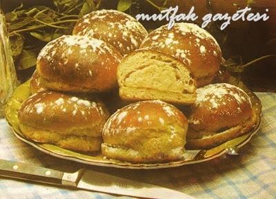 Mutfak Gazetesi-bademli kremalı çörek tarifi