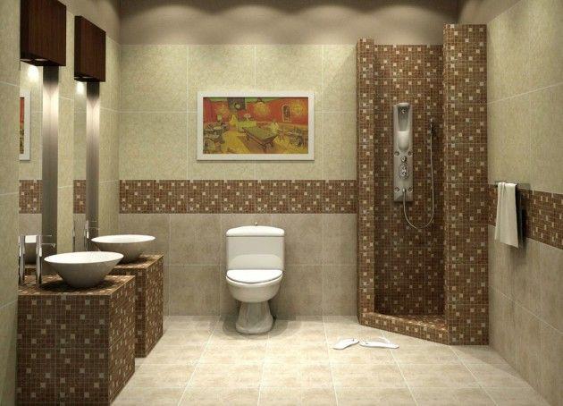 Make Your Bathroom Beautiful Using Fascinating Mosaic Tiles Design Tiledesigns Moderne Kleine Bader Modernes Badezimmerdesign Badezimmer Mit Mosaik Fliesen