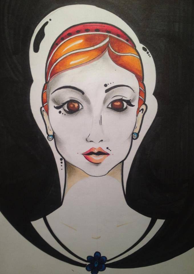 Barbara :)  #ink #copicmarkers #pose #art #abstract #abstractart