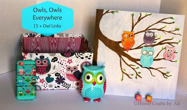 Owls, Owls Everywhere. 15+ owl links