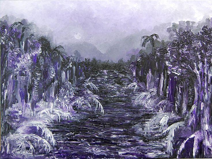 """Tia Sandhu, """"Terminus"""", Oil on canvas"""