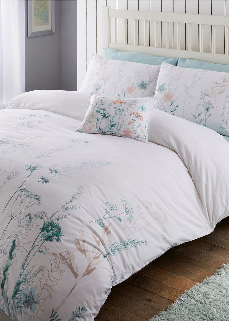 Embroidered Floral Duvet Set