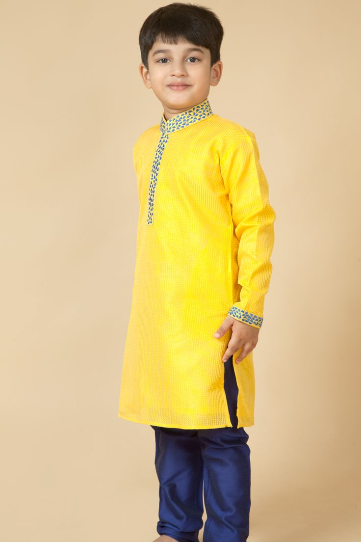 Synthetic kurta churidar embellished with thread embroidery. Item number KB15-26