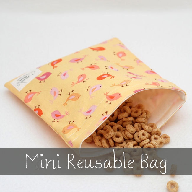 Tweet+Tweet+Butter++Mini+Reusable+Bag+from+green+by+by+mamamade,+$6.50