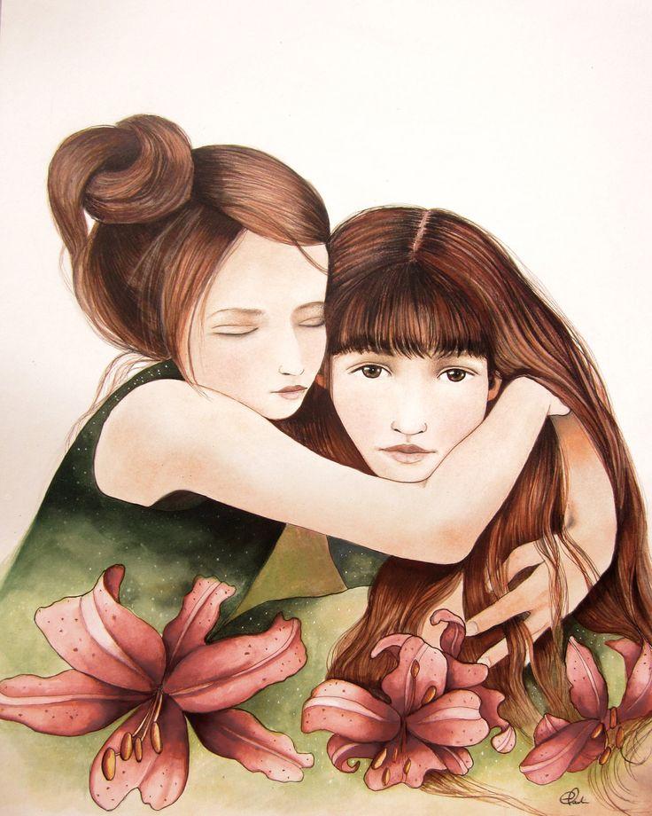 The sisters art print. $20.00, via Etsy.