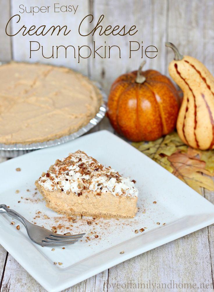 Cream Cheese Pumpkin Pie. Quick & Easy alternative to traditional Pumpkin Pie....requires NO BAKING!!