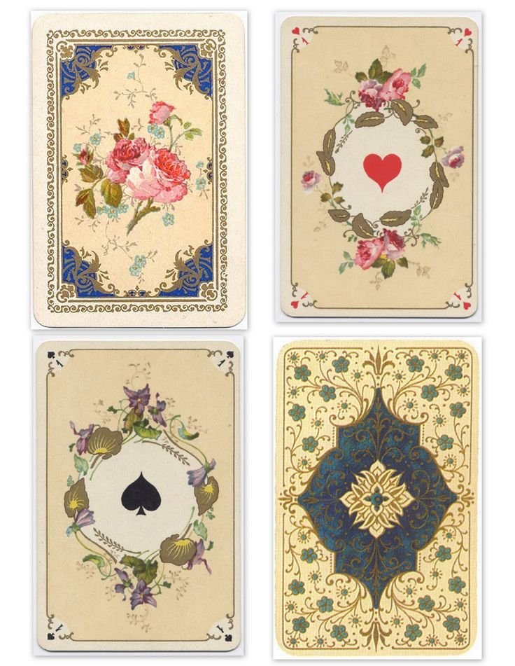 25+ Best Ideas About Vintage Playing Cards On Pinterest