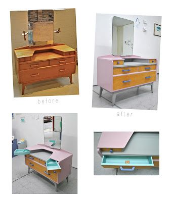 Ziggy Sawdust: 'Marilyn' redesigned original 1950s G-Plan dressing table  Before + After, upcycle