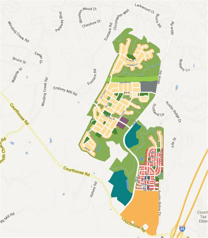 Embrey Mill Community Map Stafford Virginia