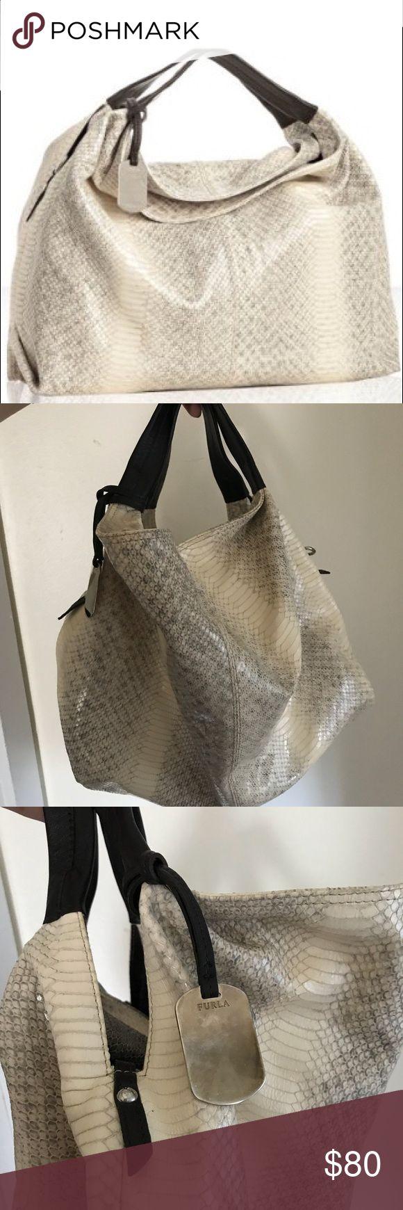 furla cream python print bag furla cream python print bag (New condition) Furla Bags Hobos