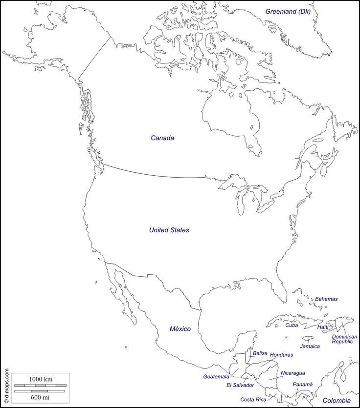 Más De 25 Ideas Increíbles Sobre America Del Norte Mapa En
