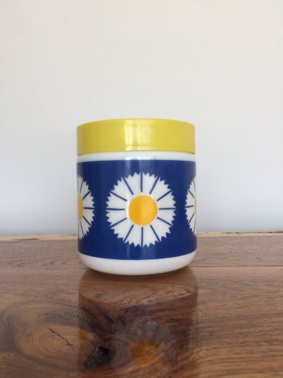 RESERVED LISTING Retro Milk Glass Daisy by bluesuitcasevintage