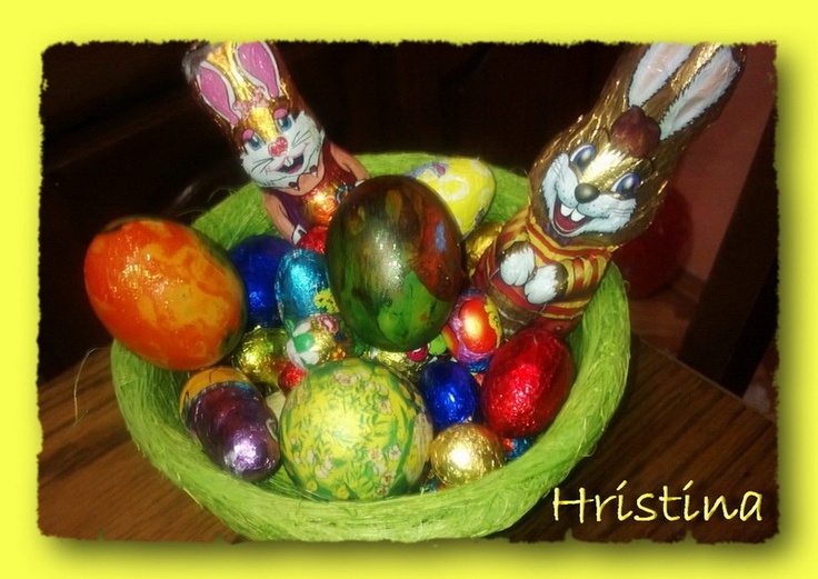 decoupaged eggs, by Hristina