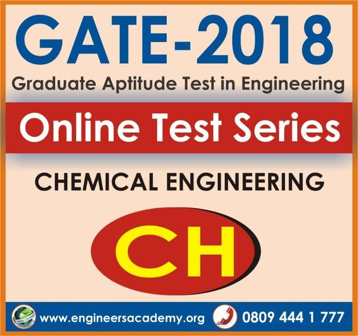 Engineers Academy offers best Chemical Online Test Series for GATE 2018 Exam with free GATE online mock test. If you want to do online gate preparation you must join GATE online test series at engineers academy's website or android mobile application / IOS mobile application. It have exact pattern of GATE exam like actual GATE calculator, range type questions, detailed analysis, Ranks etc. For any queries call on +91-8094441777.