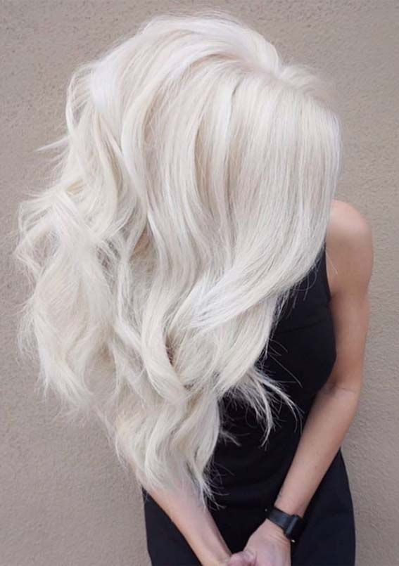 Best Hair Colors Highlights Ideas In 2019 White Blonde Hair