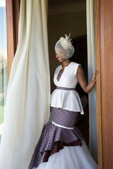 Traditional Zulu wedding dress