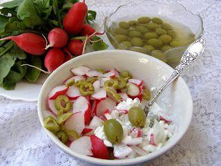 W Mojej Kuchni Lubię.. : twarożek z oliwkami, rzodkiewką...