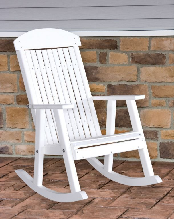 Polywood PORCH ROCKER *WEATHERWOOD* Outdoor Porch Rocking Chair