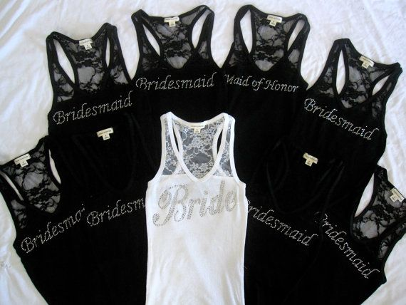 Wedding Bridal Party Lace Tank.... I like the lace. :)