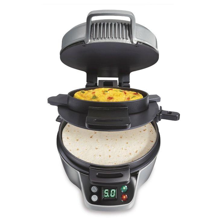 Hamilton Beach Breakfast Burrito Maker, Matte Silver