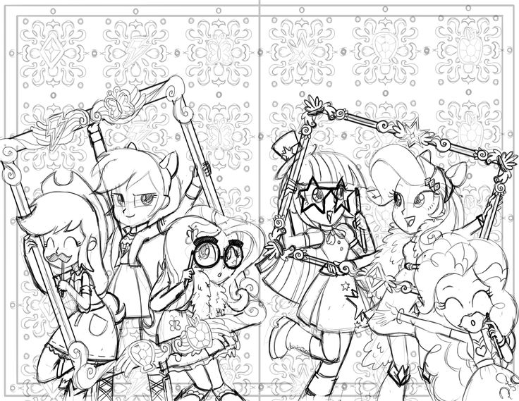 MLP: Equestria Girls | Coloring Pages for Kids | Pinterest