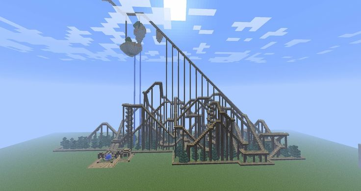 Awesome roller coaster! I didn't build this one, but I have built many roller coasters on my Minecraft worlds. Tell me if you want to see them! :)