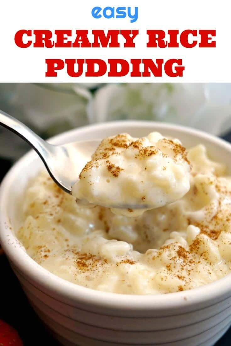 Easy Creamy Rice Pudding With A Touch Of Vanilla And Cinnamon A